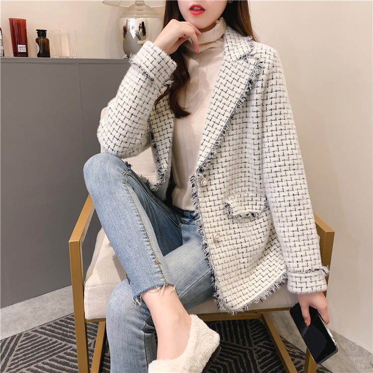 Yvette Checkered Coat