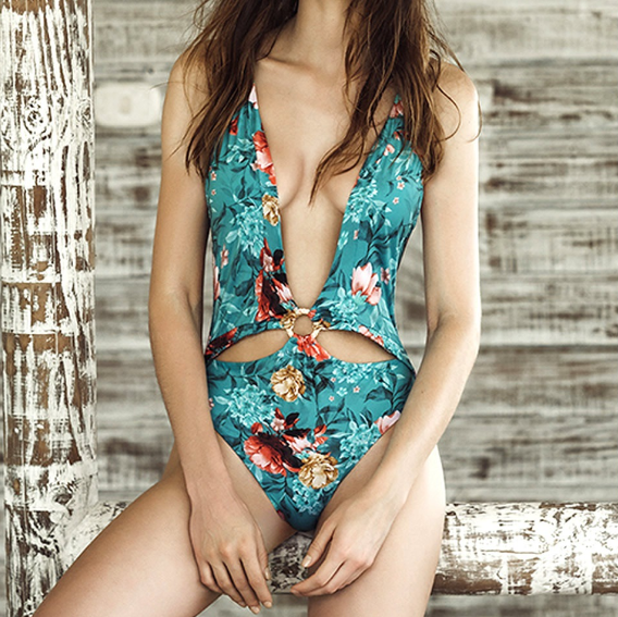 Tropical Floral Monokini