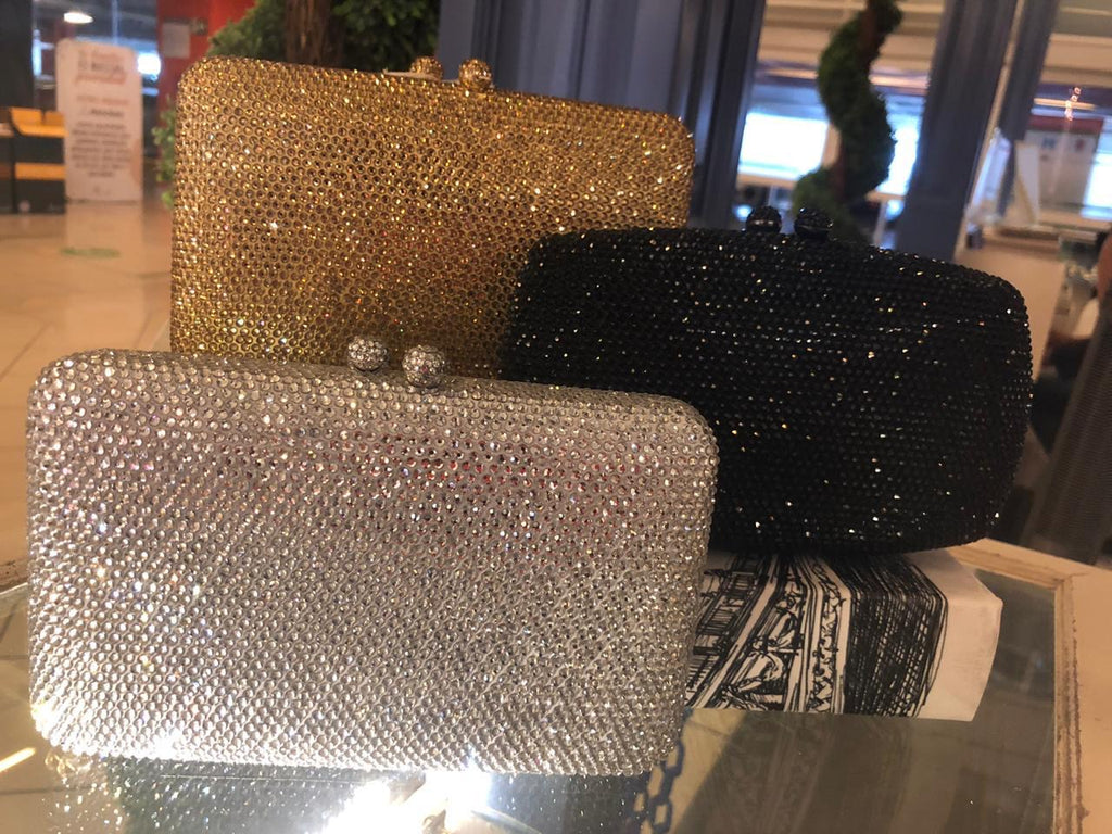 Clutch gold/silver/black