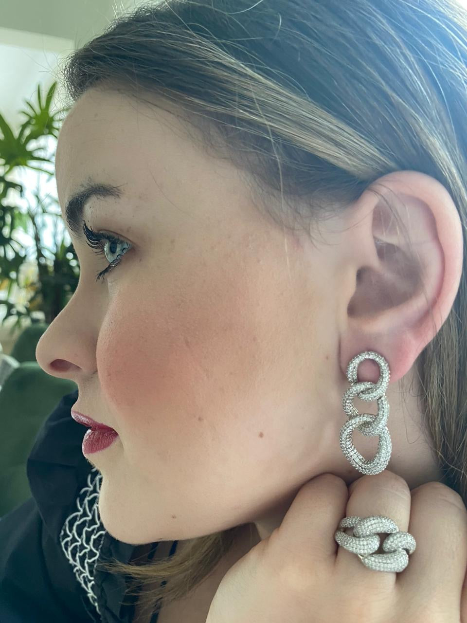 Eslabon Earring/ Ring