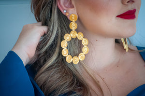 GOLD BIG EARRING