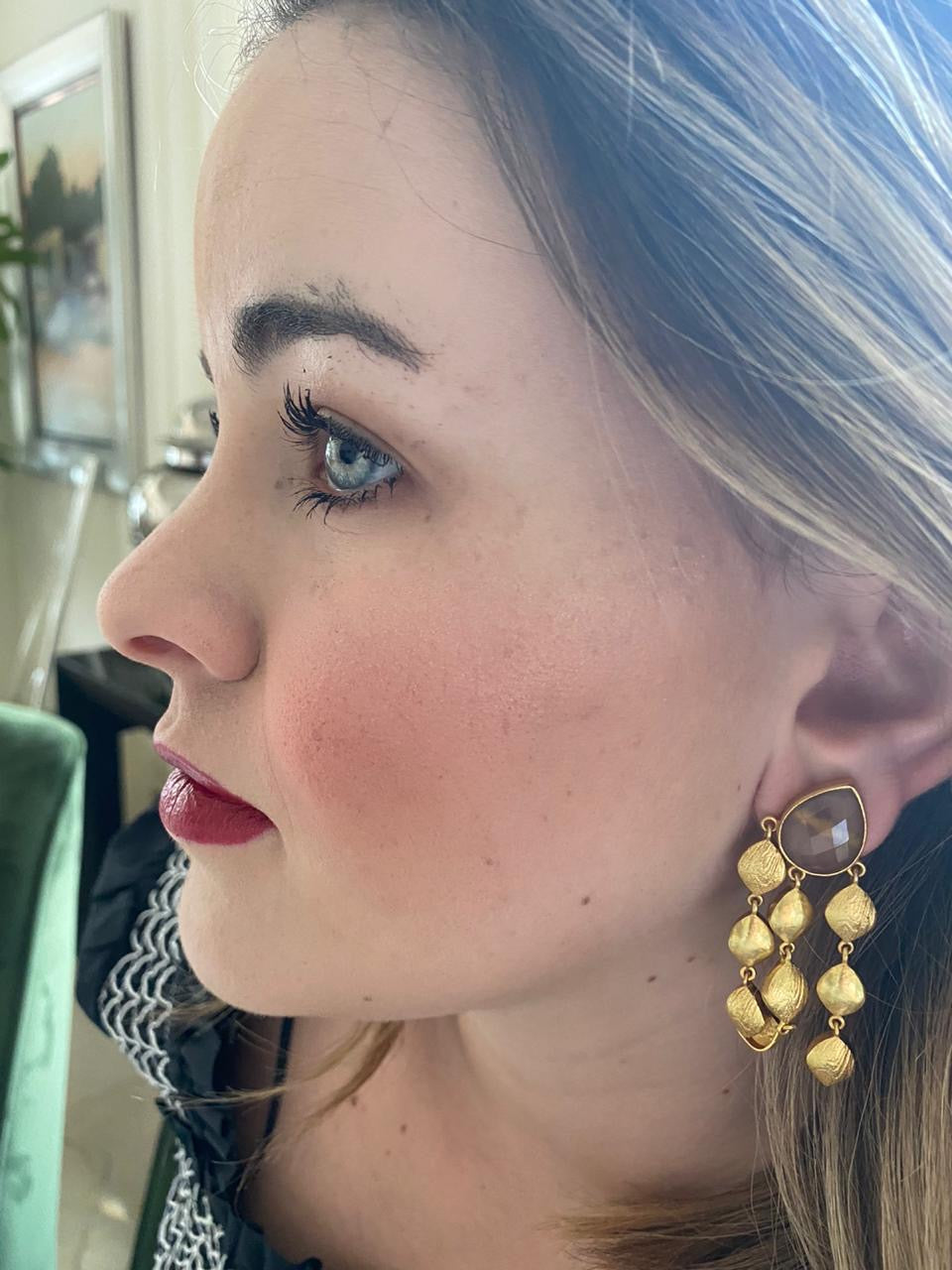Smokey Gold Earring