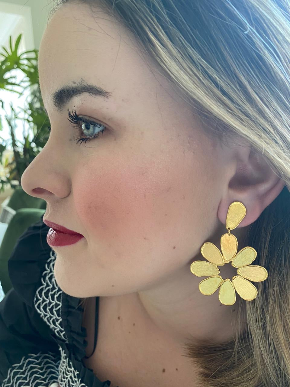 Flower Gold Earring
