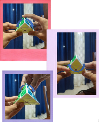 how to solve pyraminx fast