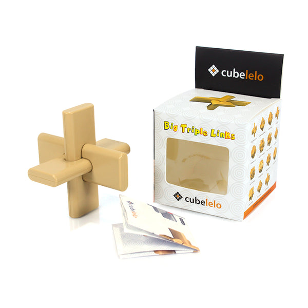 Cubelelo Big Triple Links Puzzle-Locking Puzzles-Cubelelo