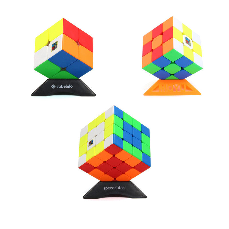 MoYu RS2M, RS3M & RS4M Cube Combo (Stickerless)-Cubelelo Customized-MoYu