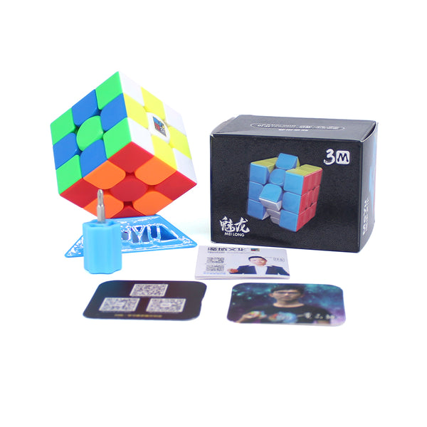 MFJS Meilong 3M 3x3 Stickerless (Magnetic)-3x3-MoFang JiaoShi