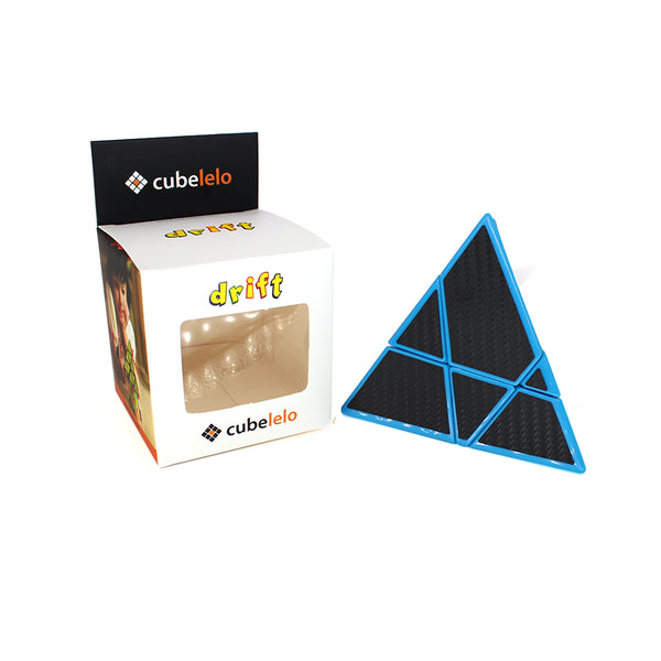 Cubelelo Drift Pyraminx Ghost Carbon Fiber Edition-Pyraminx Mods-Cubelelo