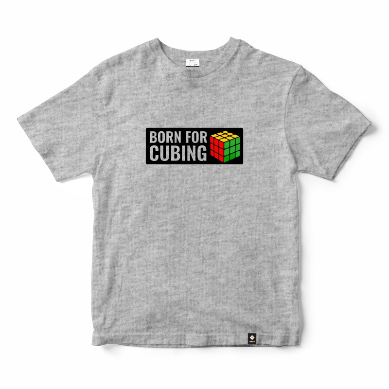 CubeInk Born for Cubing T-Shirt-Cubing T-Shirts-CubeInk