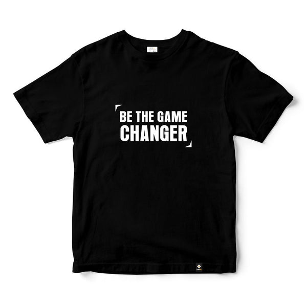 CubeInk Be The Game Changer Round Neck T-Shirt-Cubing T-Shirts-CubeInk