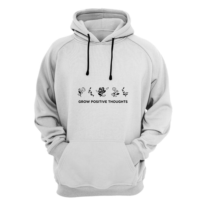CubeInk Grow Positive Thoughts Hoodie-Hoodies-CubeInk