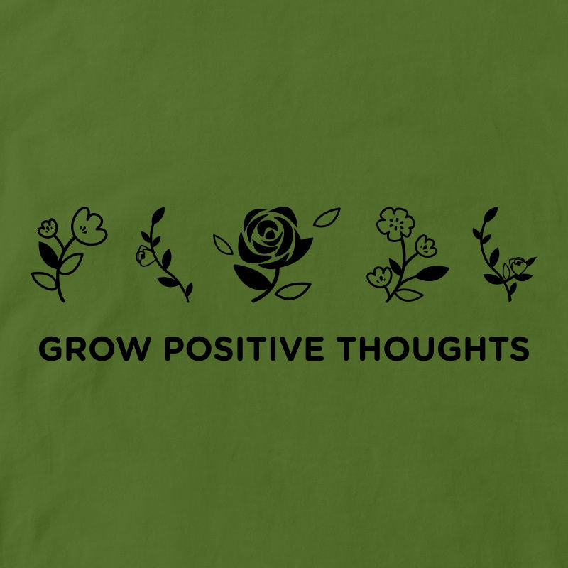 CubeInk Grow Positive Thoughts Round Neck T-Shirt-Cubing T-Shirts-CubeInk