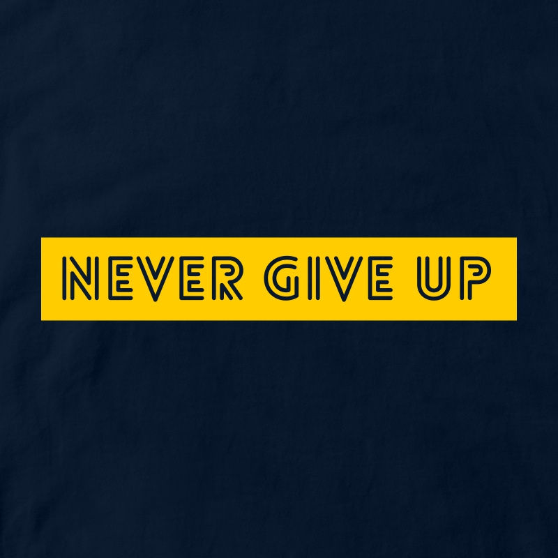 CubeInk Never Give Up Round Neck T-Shirt-Cubing T-Shirts-CubeInk