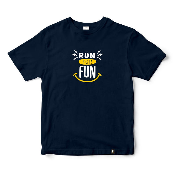 CubeInk Run for Fun Round Neck T-Shirt-Cubing T-Shirts-CubeInk