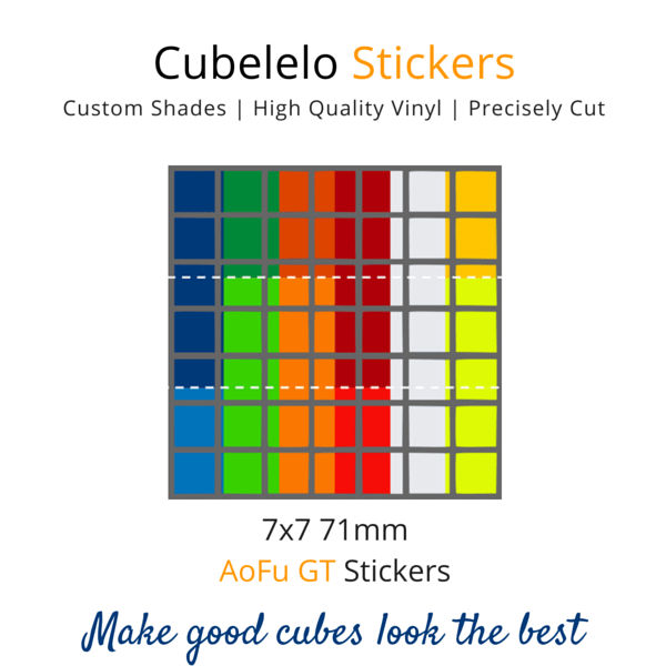 AoFu GT 7x7 Stickers-Stickers-Cubelelo