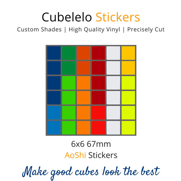 AoShi 6x6 Stickers-Stickers-Cubelelo