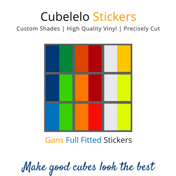 GAN 3x3 Full Fitted Stickers-Stickers-Cubelelo