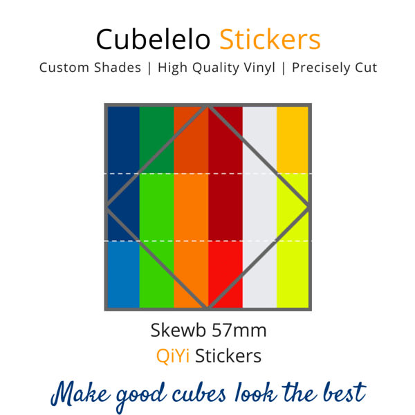 QiYi Skewb Stickers-Stickers-Cubelelo