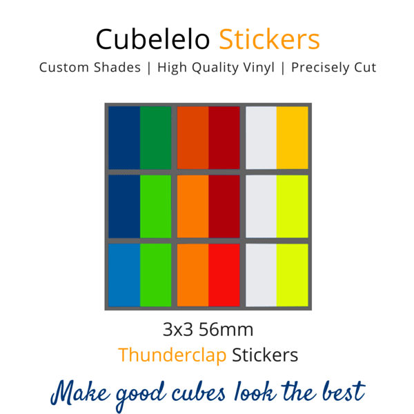 Thunderclap 3x3 Stickers-Stickers-Cubelelo
