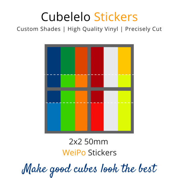 WeiPo 2x2 Stickers-Stickers-Cubelelo