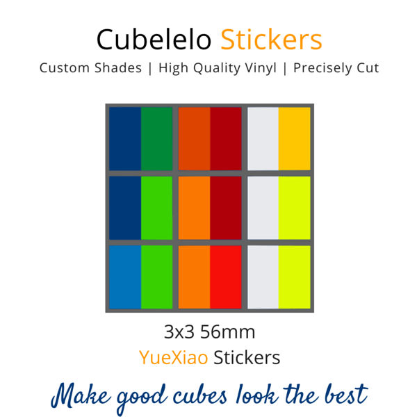 YueXiao 3x3 Stickers-Stickers-Cubelelo