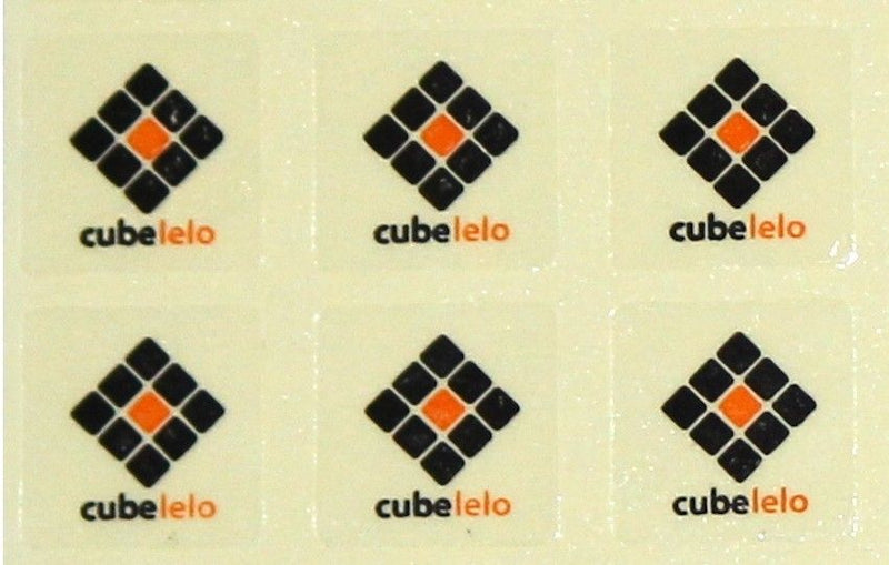 Cubelelo Logo Sticker- Set of 6-Stickers-Cubelelo