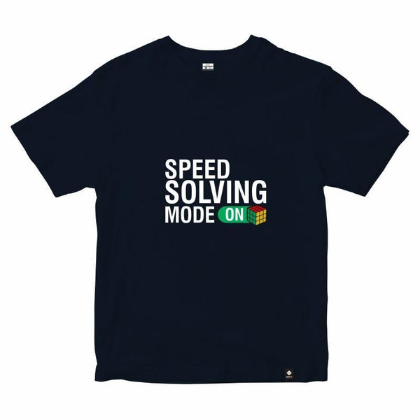 CubeInk Speed Solving Mode - ON T-Shirt-Cubing T-Shirts-CubeInk