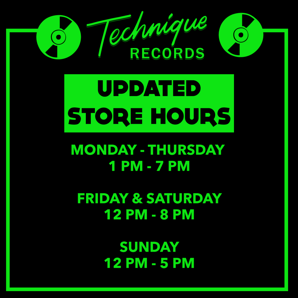 NEW STORE HOURS!