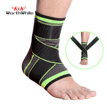 Carregar imagem no visualizador da galeria, WorthWhile 1 PC Sports Ankle Brace Compression Strap Sleeves Support 3D Weave Elastic Bandage Foot Protective Gear Gym Fitness