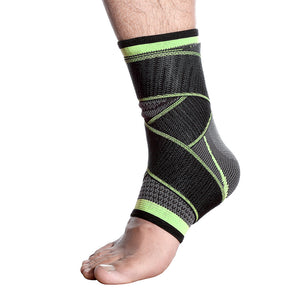 WorthWhile 1 PC Sports Ankle Brace Compression Strap Sleeves Support 3D Weave Elastic Bandage Foot Protective Gear Gym Fitness