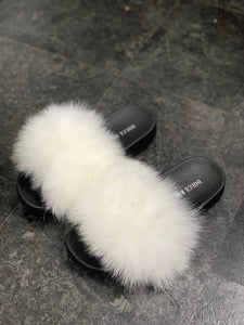 Fox Fur slides - Dolce Rosa