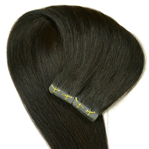 Virgin Indian Tape in hair extensions - Striaght
