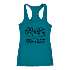 Paws and Reflect Racerback Tank  (11 colors)