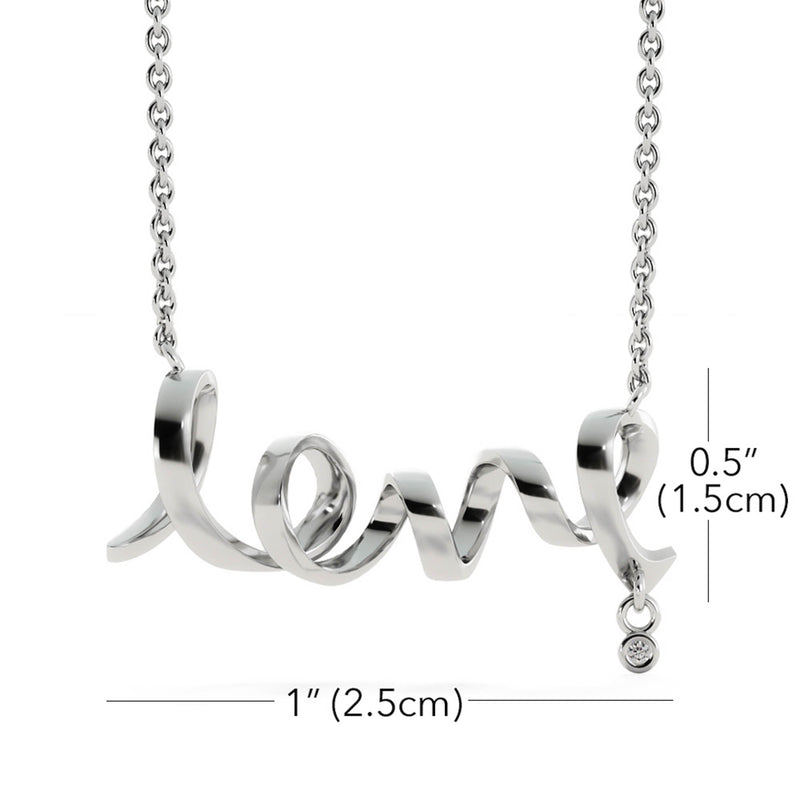 Love Script Necklace for Daughter