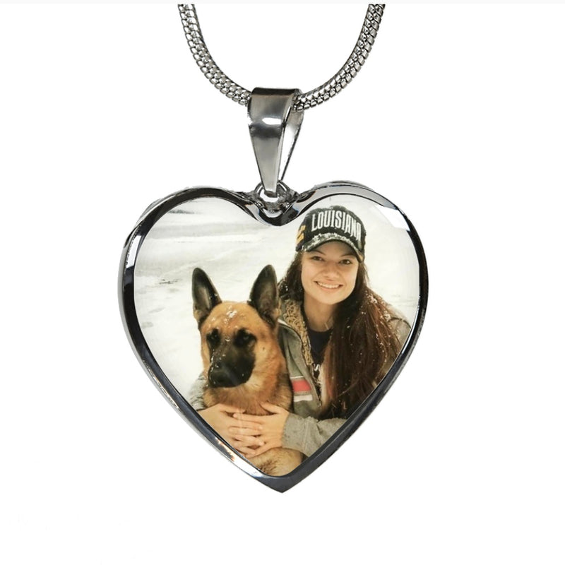 Heart Necklace With Photo