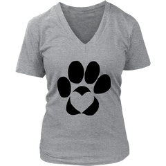 Dog Paw with Heart (6 Colors)