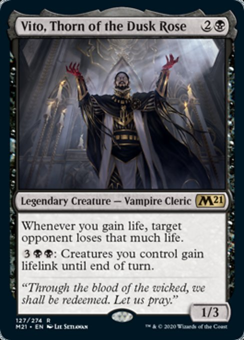 Vito, Thorn of the Dusk Rose [Core Set 2021] | Clockwork Games & Events
