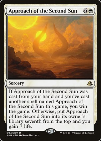 Approach of the Second Sun [Amonkhet] | Clockwork Games & Events