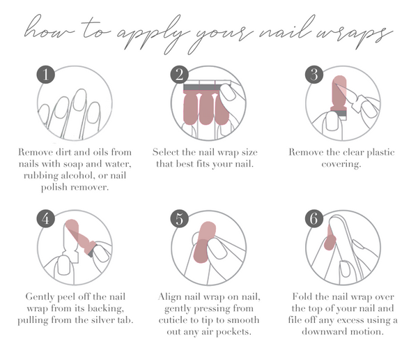 how to apply your diy nail polish wraps and nail strips at home for a perfect, beautiful, long-lasting manicure.