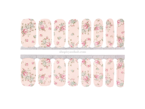 Antique Rose Nail Wrap Set