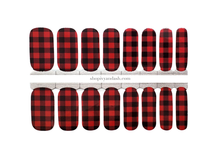 Load image into Gallery viewer, Buffalo Plaid Nail Wrap Set