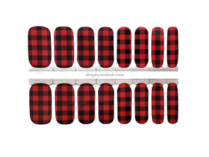 Buffalo Plaid Nail Wrap Set