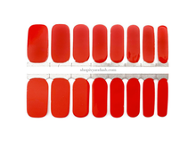 Load image into Gallery viewer, Cheerful Red Nail Wrap Set