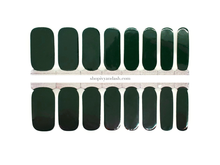 Load image into Gallery viewer, Deep Forest Green Nail Wrap Set