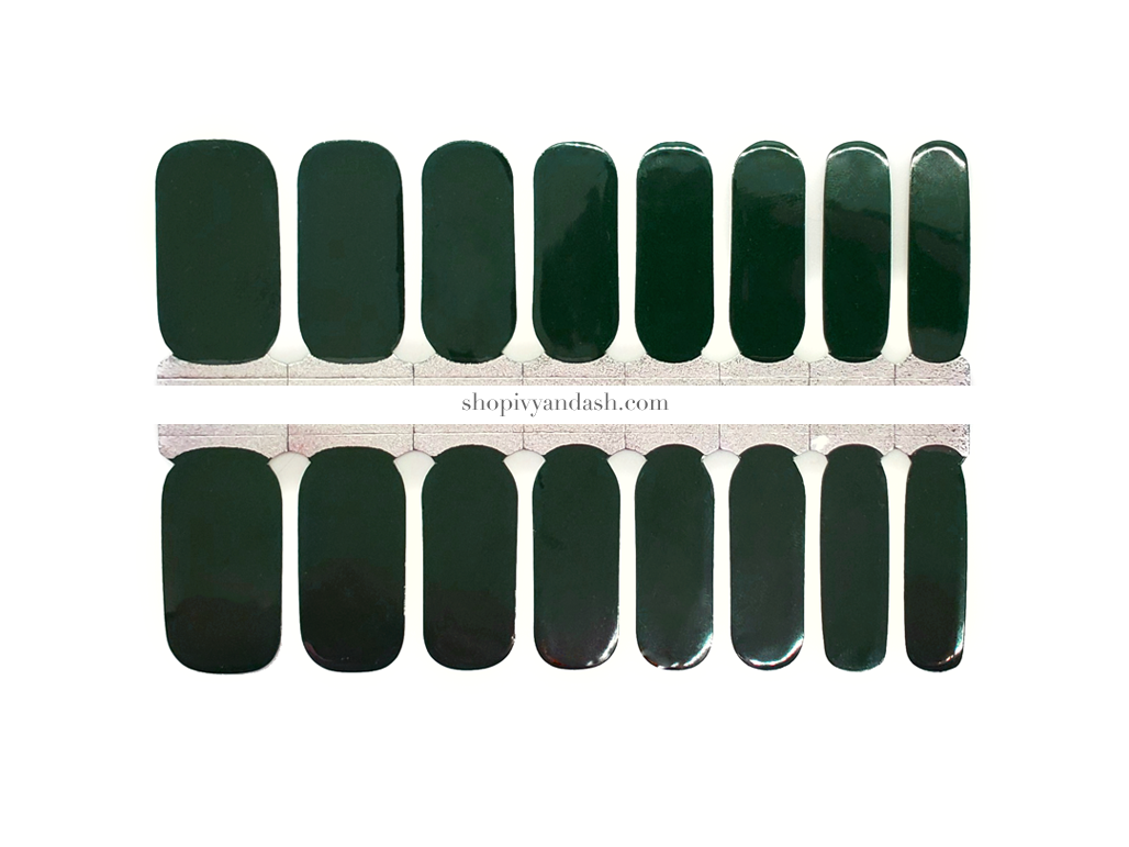 Deep Forest Green Nail Wrap Set