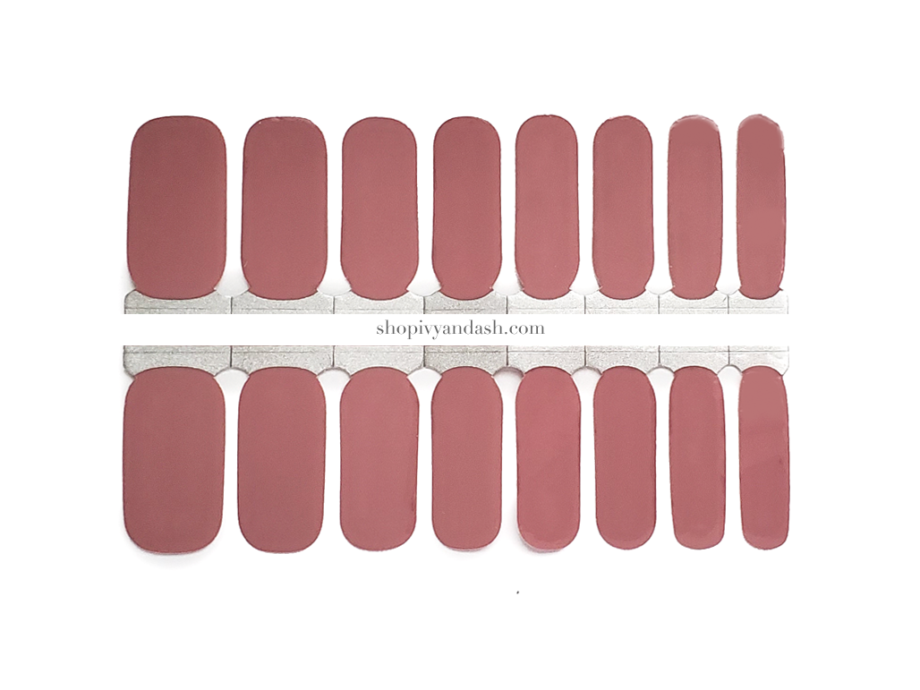 Dusty Rose Nail Wrap Set
