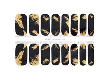 Load image into Gallery viewer, Gilded Nights Nail Wrap Set
