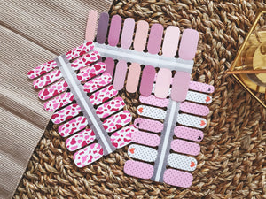 Mixed Mauve Nail Wrap Set