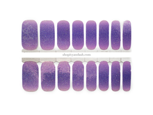 Load image into Gallery viewer, Lavender Ombre Glitz Nail Wrap Set