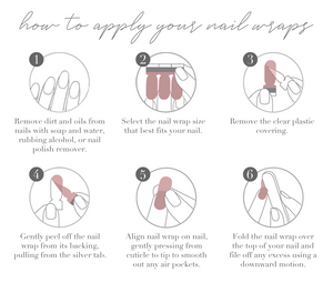 How to apply your nail wraps - DIY nail strips application step-by-step instructions